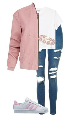 """""""Untitled #184"""" by jayla-gore on Polyvore featuring Topshop, adidas Originals, Monki, Helmut Lang and BaubleBar"""