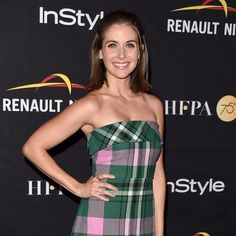 Gorgeous girl #AlisonBrie in our Rose Gold Stacked Dagger Ring at the HFPA InStyle Celebration of #TIFF Styled by @cristinaehrlich #RachelKatzJewelry