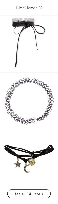 """""""Necklaces 2"""" by moonlillie ❤ liked on Polyvore featuring jewelry, necklaces, clear, jewelry necklaces, crystal choker necklace, fallon necklace, clear crystal jewelry, leather necklaces, fallon choker and costumes"""
