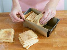 Zupfbrot mit Zimtzucker backen - so geht's - teigquadrate-stapeln Rezept
