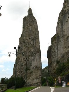 Dinant, Belgium -- Day trip.  Driving through this kind of freaked me out since I thought we would go around it.