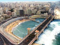 Skyline photo for Stanley bridge , Alexandria -Egypt