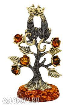 """фигурка """"Кошки - Парочка на Дереве"""" Baltic Amber, Rooster, Animals, Art, Art Background, Animales, Animaux, Roosters, Kunst"""