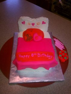 Bed Cake- for E's birthday