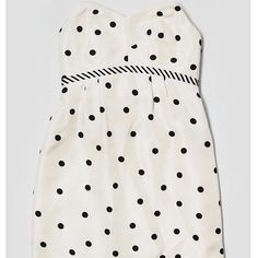 Phoebe Bow Back Silk Polka Dot Strapless Dress