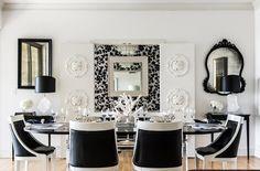 Love this black & white apartment. It feels so Parisian :)