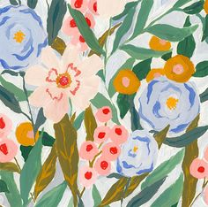Margaret Jeane is an artist and print designer who creates the most amazing paintings. Amazing Paintings, Plant Illustration, Floral Illustrations, Background Patterns, Pattern Wallpaper, Doodle Art, Floral Watercolor, Art Inspo, Floral Prints