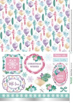 Christmas free papers from Papercraft Inspirations 170 - Papercraft Inspirations Digital Scrapbook Paper, Printable Scrapbook Paper, Digital Papers, Printable Paper, Free Printable, Christmas Stickers Printable, Free Christmas Printables, Christmas Scrapbook Paper, Christmas Paper