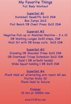 full body superset workout