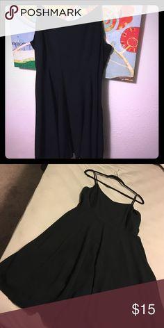 Little black dress😊 Black spaghetti strap dress. Flowy skirt. Worn once. Old Navy Dresses