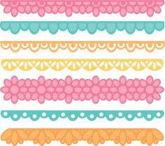 Borders Set SVG cut files for scrapbooking borders clipart  free svg cuts