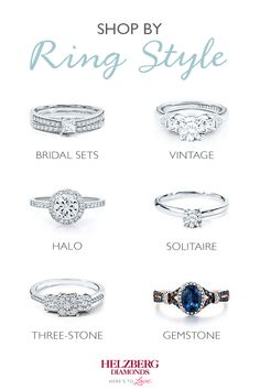 Discover a dazzling array of engagement ring styles at Helzberg Diamonds. From the breathtaking elegance of bridal sets to the timeless style of vintage rings—shop by style to find your perfect ring.