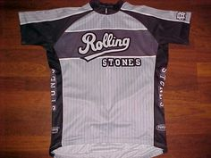 Primal 2006 RST Concert Production Rolling Stones Black Gray Cycling Jersey XL