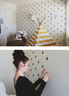 Taping wall decoration