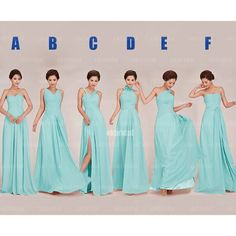 tiffany blue bridesmaid dresses, long bridesmaid dresses, mismatched bridesmaid dresses