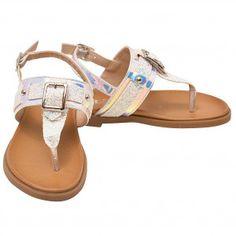 c0c3184ee79e SophiasStyleGorgeous Sandals · Girls White Glitter Buckle Stud Decorated  Thong Strap Sandals 11-4 Kids Kids Sandals
