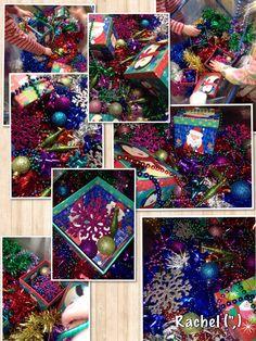 """Christmas sensory tray from Rachel ("""",)"""