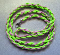 Lime green and pink hand braided paracord dog by spreadblessings, $15.00