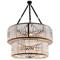 Chandelier round double in clear carved glass and gunmetal structure.Six bulbs, lamp holder type max 40 watts. Bulbs not included.Also available in Chandelier Round Triple andWall Lamp Round Simple. Light Bulb Chandelier, Art Deco Chandelier, Vintage Chandelier, Chandelier Pendant Lights, Bulb Lights, Lamp Light, Luxury Chandelier, Designer Chandeliers, Dining Room