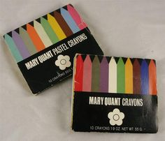 Vintage Mary Quant makeup Crayons. My older sister had these cool Mary Quant Paintboxes that had eyeshadows you could use wet or dry. I loved them.
