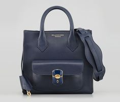 Balenciaga Padlock Mini Crossbody.  Reminiscent of the celine with out the (now uber trendy) gussets.