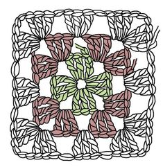 The Humble Granny Square – Renate Kirkpatrick's Freeform Crochet~Knit~Fibre Designs – Granny Square Motif Mandala Crochet, Granny Square Crochet Pattern, Freeform Crochet, Crochet Squares, Crochet Granny, Crochet Stitches, Crochet Patterns, Crochet Blocks, Afghan Patterns