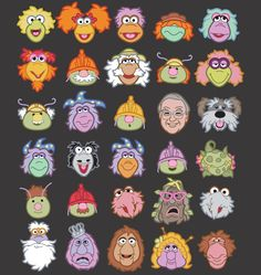 I LOVE this Fraggle Rock t-shirt from Threadless, genius! Coloring Books, Coloring Pages, Fraggle Rock, The Muppet Show, Cartoon Photo, Rock Design, Jim Henson, Cool Cartoons, Vintage Movies