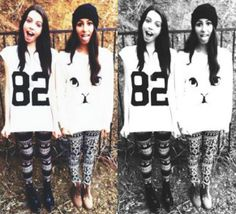 Lauren and Dani Cimorelli Dani Cimorelli, Girl Group, My Girl, Cute Outfits, Awesome Stuff, Celebrities, My Style, Grunge, Jackets