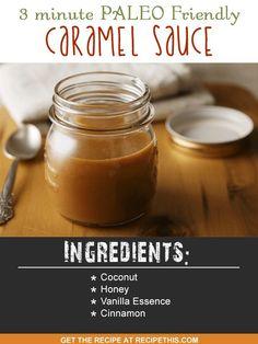 Blender Recipes   3 Minute Paleo Friendly Caramel Sauce recipe from RecipeThis.com