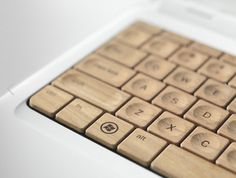 Wooden PC keyboard
