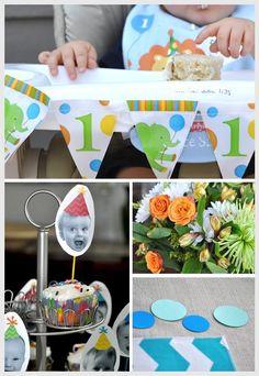 rainbow chevron birthday party picture invitation diy digital