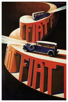 pinterest.com/fra411 #car #poster- Fiat