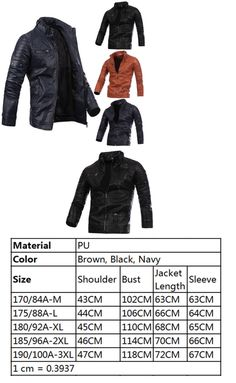 Coats and Jackets 57988: Black Men S Faux Leather Jacket Fashion Slim Fit Biker Motorcycle Jacket Red Nt -> BUY IT NOW ONLY: $44.78 on eBay!