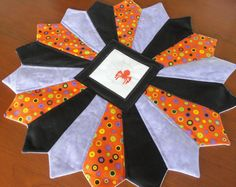 Halloween Quilted Table Topper by homesewnbychristine on Etsy, $28.00