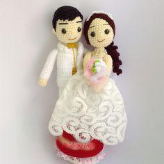 Crochet wedding dolls. (Inspiration).