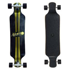 """Atom Micro Drop Deck 39"""" Longboard - Artisan Brown Atom Longboards, Longboard Trucks, Low Deck, King Pin, Area 51, Out Of This World, Concave, Rebounding, Heat Transfer"""