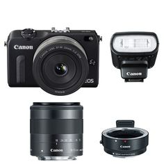 Special Offers - Canon EOS M2 Camera w/ EF-M 22MM f/2 18-55MM F/3.5-5.6 IS EF-M Lens 90EX Flash & EF-M Adapter (Black) - In stock & Free Shipping. You can save more money! Check It (May 28 2016 at 12:57PM) >> http://wpcamera.net/canon-eos-m2-camera-w-ef-m-22mm-f2-18-55mm-f3-5-5-6-is-ef-m-lens-90ex-flash-ef-m-adapter-black/