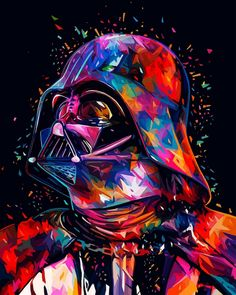 Star Wars Paint by Number Kit, Darth Vader, Painting by numbers, Acrylic picture, For adult, With frame by CreativeTheRaccoonUA on Etsy Star Wars Fan Art, Film Star Wars, Star Wars Poster, Star Wars Darth, Darth Maul, Star Trek, Dark Wallpaper Iphone, Star Wars Wallpaper, Wallpaper Darth Vader