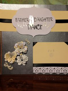 """Premade 12x12 """"Father-Daughter Dance"""" Scrapbook Page"""