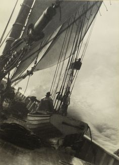 "THE STARBOARD LOOK-OUT  photograph  5 ⅜"" H x 3 ¾""  W Wallace R. MacAskill (1890-1956)"