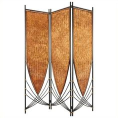 Oriental Furniture 6 ' Tall Tropical Philippine Room Divider ($279) ❤ liked on Polyvore featuring home, home decor and panel screens