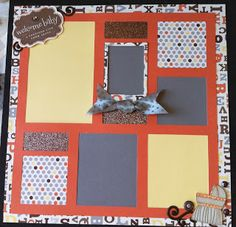 Kay's Creative and Guiding Light Orange was cut with the new ARTBOOKING Cricut cartfidge.  Babycakes is the new CTMH paper!