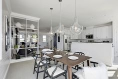 Right off the gourmet kitchen, you'll find plenty of space for dining in these luxury townhomes in Hanover, Maryland.
