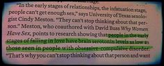 Love and serotonin