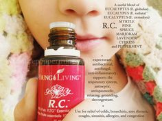 R.C. Essential Oil is so jam-packed with cold/sinus/cough/and flu goodies, that bugs and germs and allergies just don't stand a chance. My son and I use R.C. on a daily basis. Myself, for allergies...