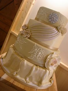 Champagne Wedding Cake by murnahan, via Flickr
