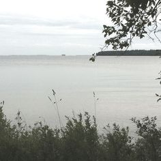 Lake Vättern from Hanken north of Karlsborg in Västergötland Sweden