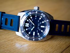 Prometheus Piranha Black 500M Automatic Diver Watch Miyota 9015 C3 Lume   eBay