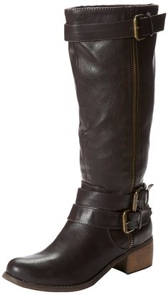 Rampage Women's Stefie Riding Boot * Hurry! Check out this great shoes : Knee high boots