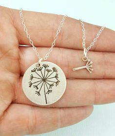 Mother Daughter Necklace Set Jewelry - Dandelion Necklace - Best Friends Necklace - Ready to Ship by emilyjdesign on Etsy https://www.etsy.com/listing/277535392/mother-daughter-necklace-set-jewelry